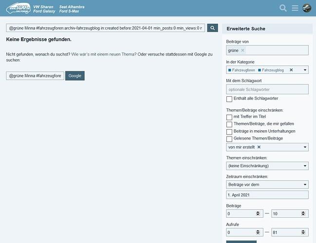 Suche Blogbeiträge
